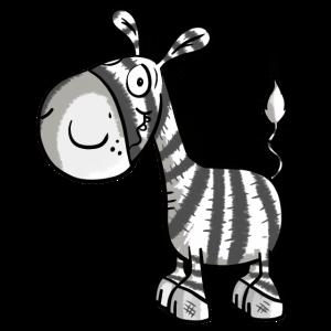 Ein kleines Zebra