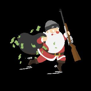 Weihnachtsmann Bankraub