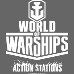 World of Warships Logo white