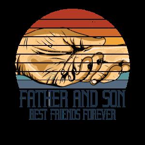 Retro Vater & Sohn Familie Vintage Spruch Geschenk