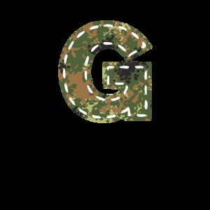 G Buchstabe tarnfleck genäht camouflage Bundeswehr