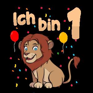 Ich bin Eins 1 Jahr erster 1. Geburtstag
