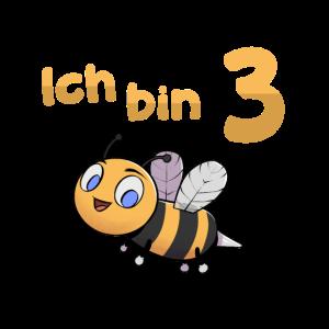 Ich bin Drei 3 Jahre Biene Dritter 3. Geburtstag