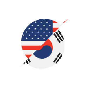 American Flag South Korea Flag Gift USA Immigrant