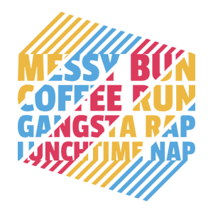 Mom Gift Messy Bun Coffee Run Gangsta Rap