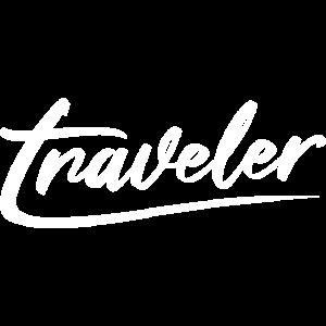 traveler typografie letter writing symbol logo
