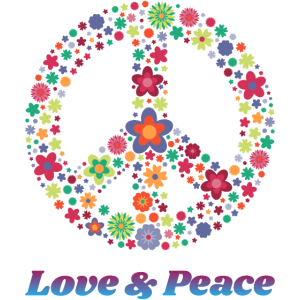 Peace Sign Gift Love Equality Groovy 70's Hippie