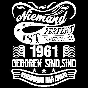 1961 Geburtstags Spruch Design