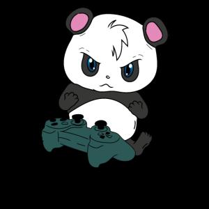 Panda Zocken T-Shirt