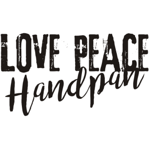 LOVE PEACE Handpan - black