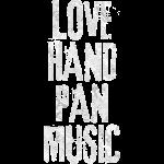 LOVE HANDPAN MUSIC fractal white