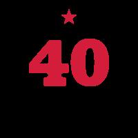 40 - Vierzig - Birthday - runder Geburtstag