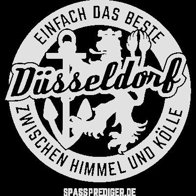 Düsseldorf - einfach das Beste - Düsseldorf - das unbestreitbar Beste zwischen Himmel und Kölle. - witzig,lustig,flott,cool,cool,T Shirt,Städte,Stadt,Sprüche,Spruch,Shirt,NRW,Köln,Kölle,Düsseldorferinnen,Düsseldorferin,Düsseldorfer,Düsseldorf