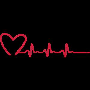 Laufende Frau und EKG Herzfrequenz, Laufen