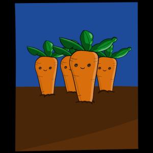 Karotten in der Erde