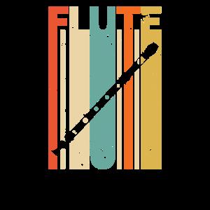 Retro Vintage Flöte Flötist Querflöte Blasmusik
