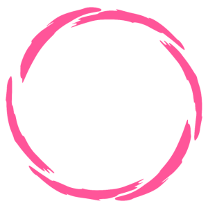 Kreis Rosa Kreisform Bürste