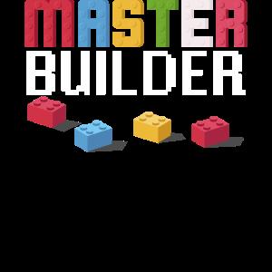 Geschenk für Block Builder Fans Master Builder Fun