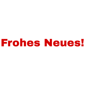 Frohes Neues!