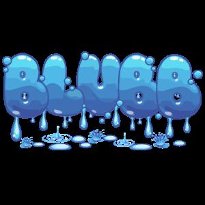 Blubb Wasser Flüssig tropfend Graffiti