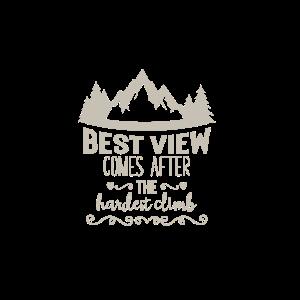 best view climb Geschenk Abenteuer Urlaub Berge Er
