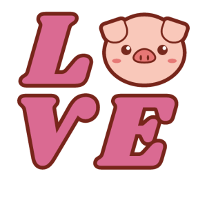 Love Pig Gift Funny Cute Pig Lovers Farmer Gifts