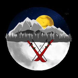 Mountains Wintersport Skifahrer