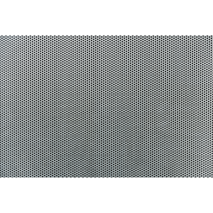 Grauer Metallhintergrund. Perforierte Metallplatte
