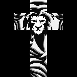 Cross Lion Lamb Jesus Christian