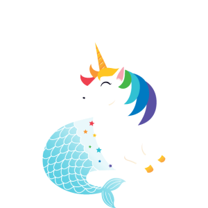 50% Mermaid - 50% Unicorn