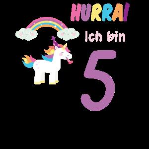 Hurra ich bin 5. Fünfter Geburtstag 5 Jahre