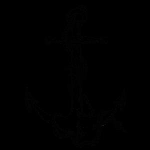 Maritimer Piraten Anker schwarz