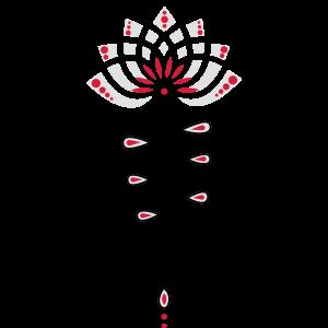 Unalome Lotus Lotusblüte Yoga Buddhismus Symbol