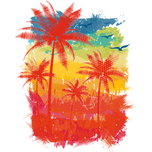 Bunte Streifen (Palmen)
