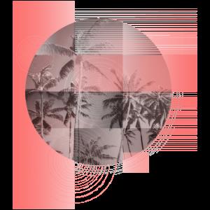 Palmen (Formen, rosa)