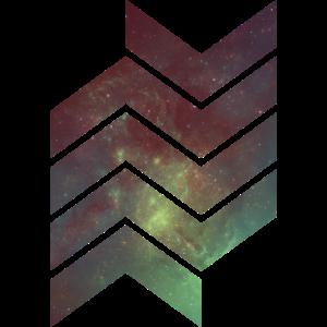Geometrisch Universum Abstrakt Muster Form Galaxie