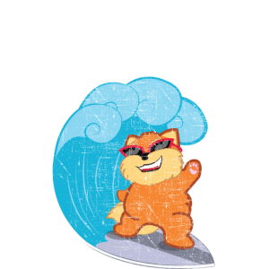 Purrfect Wave | Cat Surfing Wave