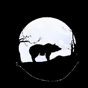 Bär im Mondlicht