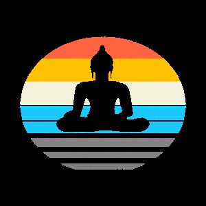 Buddha Meditation Retro Shirt - Yoga Geschenk