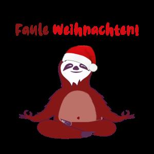 weihnachten Faultier yoga , faule weihnachten