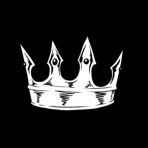 Krone schwarz weiß Royal König Kaiser Mittelalter