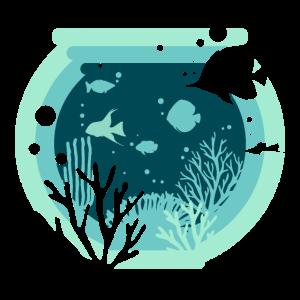 Aquarium Zierfische Aquaristik - Design
