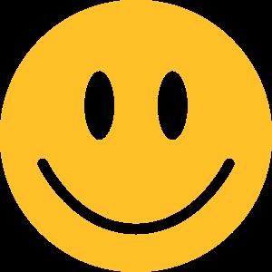 glückliches, gelbes Gesicht