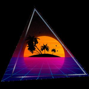 80s Palmen Dreieck grunged