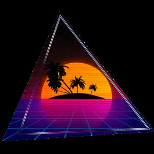 80s Palmen Dreieck Insel Clean