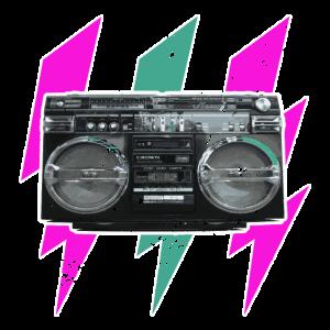 Flash boombox Mint Pink Grunged