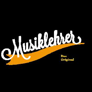 Musiklehrer Schriftzug
