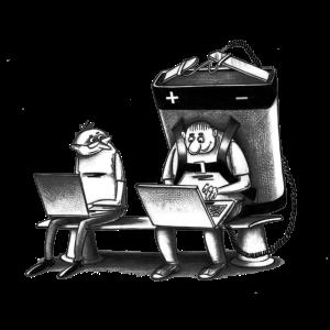 Computer Karikatur