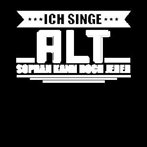 Chor Sängerin Alt Sopran Lustiges Geschenk