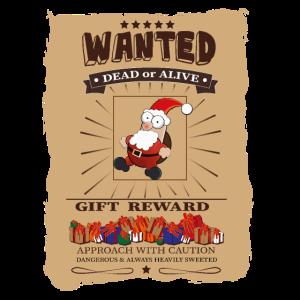 Weihnachtsmann WANTED Santa